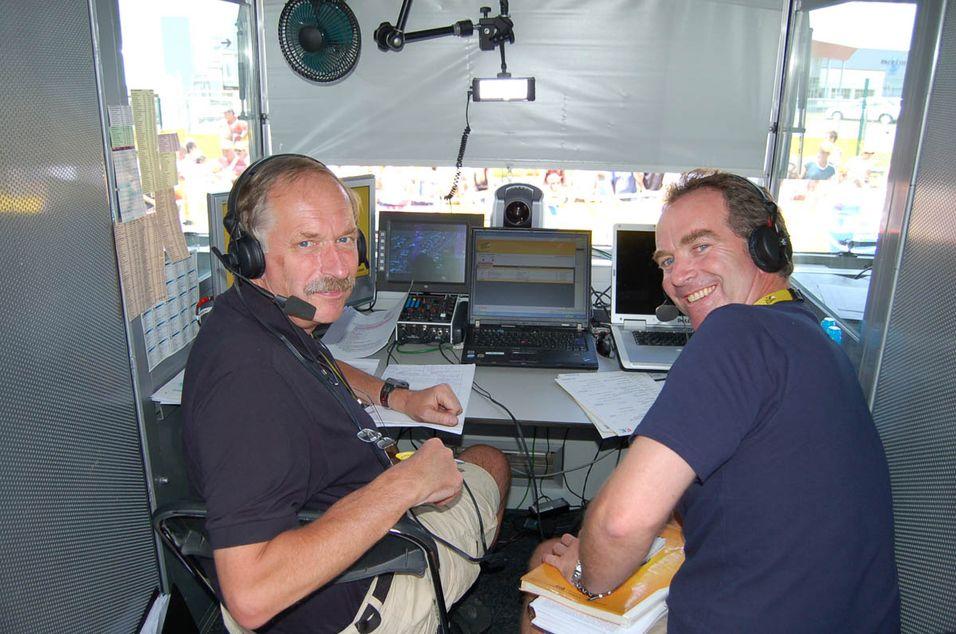 Tv2s satsing på Tour de France har båret frukter både for norsk sykkelsport og for tv-kanalen. Her ses to av kanalens frontfigurer, Johan Kaggestad og Christian Paasche.