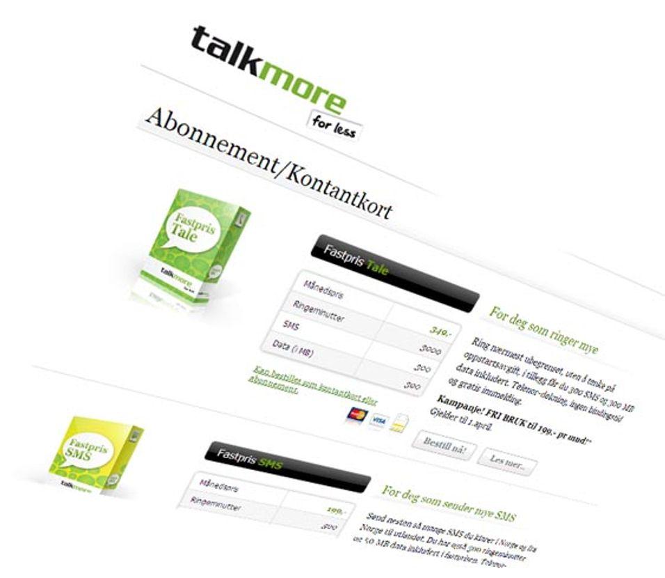 Offensiv kontantkortsatsing fra Talkmore
