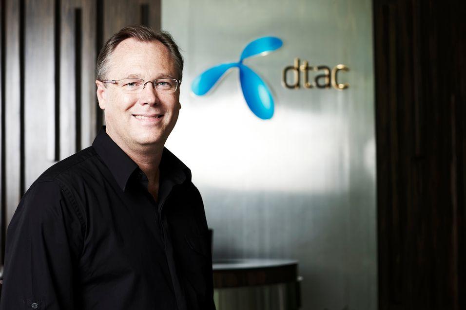 Dtac-sjef Jon Eddy Abdullah kan smile etter å ha kjøpt 3G-lisenser på billigsalg.