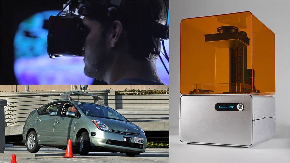 Virtuell virkelighet, 3D-printing og selvkjørende biler er noe av det vi kan vente oss framover.