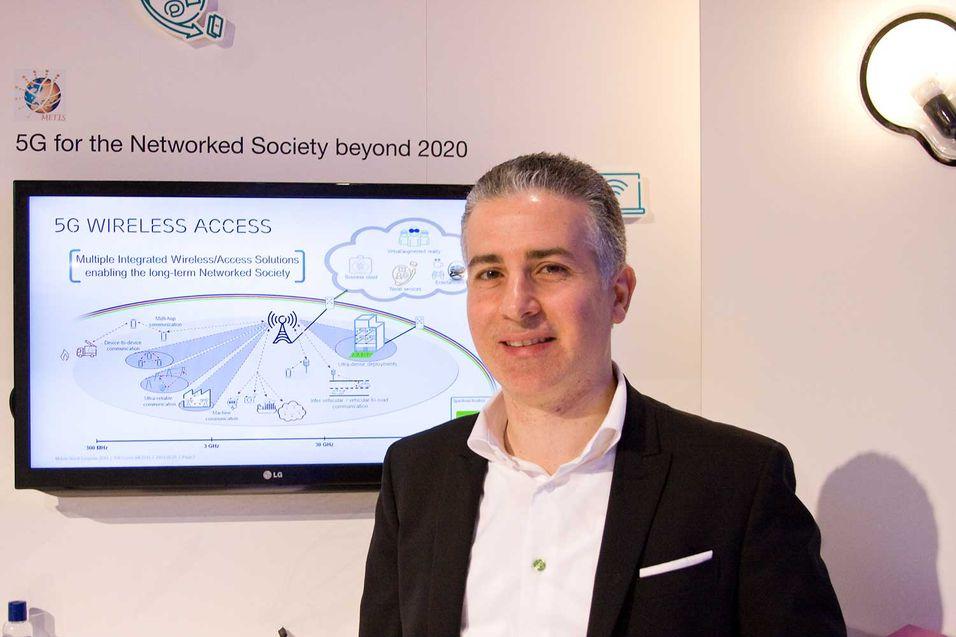 """Ericsson-mannen Afif Osseiran leder 5G-prosjektet Metis, som er en forkortelse for: \\\""""Mobile and wireless communications Enablers for the Twenty-twenty Information Society\\\"""". (Det er også navnet på en indianerstamme i Canada, men det er neppe tilsiktet.)"""