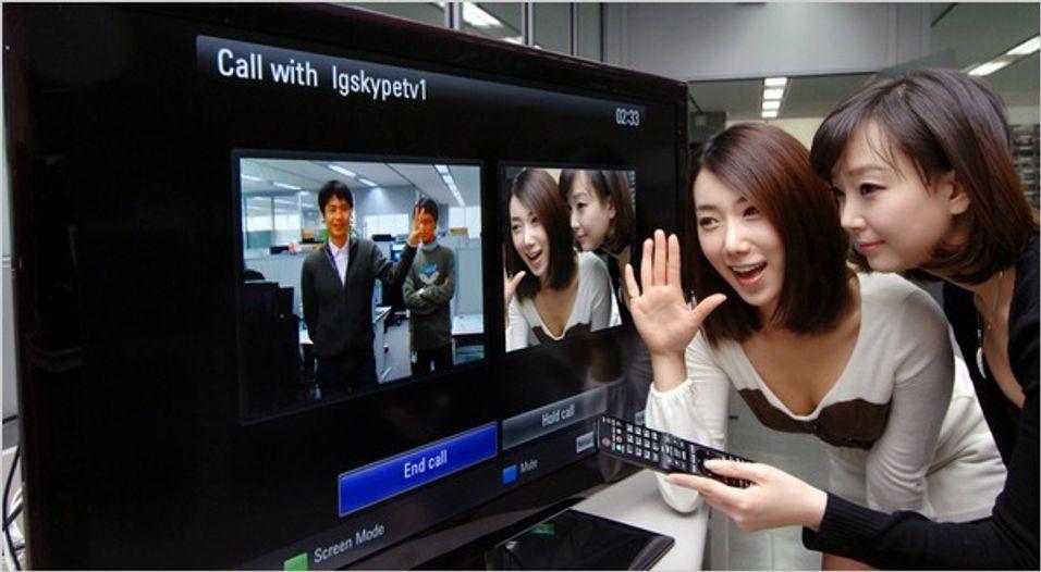 Skype-video på TV-skjermen