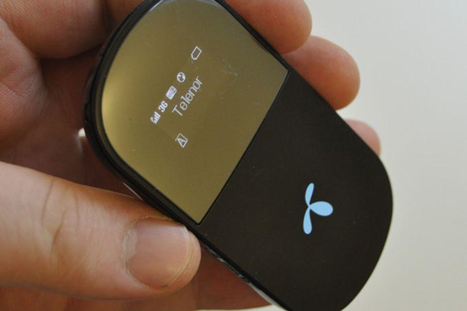 Telenors 3G-ruter imponerer Amobils testansvarlige Finn Jarle Kvalheim.