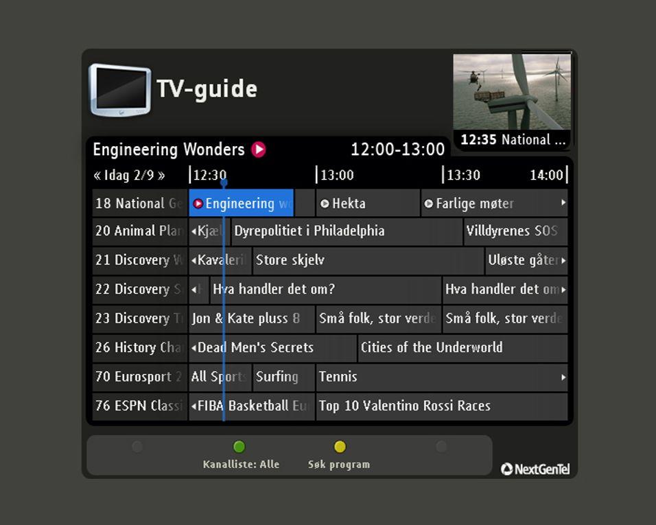 Nextgentels nye IPTV-tjeneste Play lagrer TV-programmer for en hel uke i et eget arkiv man får tilgang til ved behov.