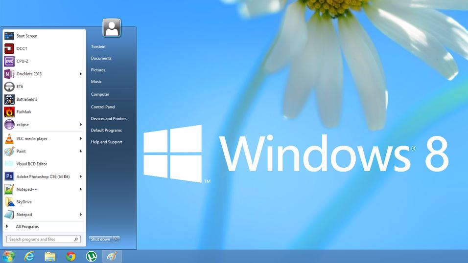 – Startmenyen vender tilbake i Windows 8.2