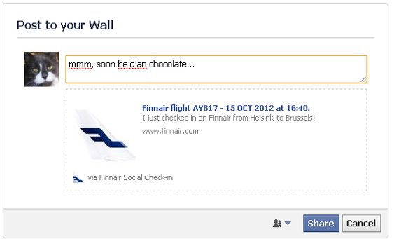 Slik ser Finnair for seg at du vil bruke innsjekkingsmuligheten.