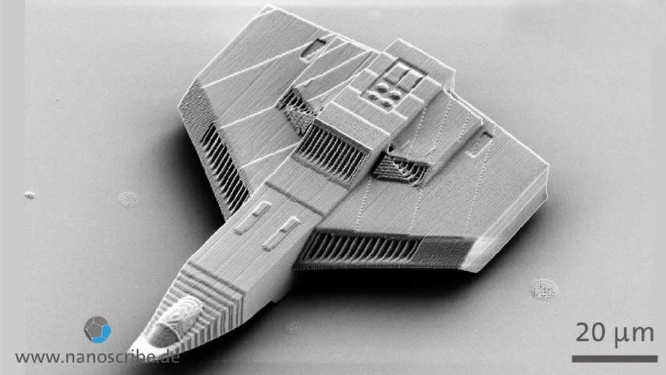 Dette romskipet er på størrelse med et hårstrå