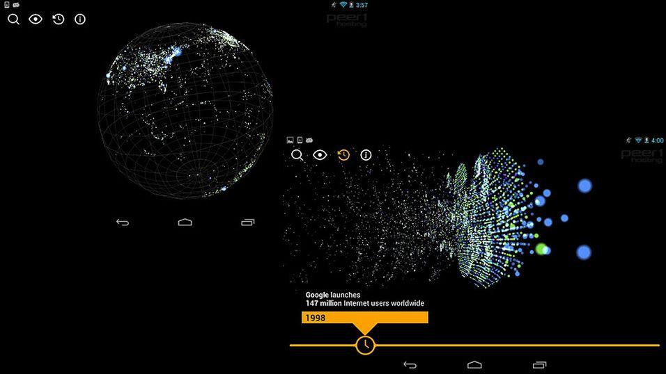 Nå kan du studere Internett i detalj med denne visuelle appen.