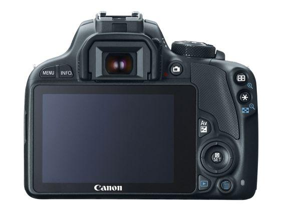 Canon EOS 100D viser oss ryggen - øh, skjermen.
