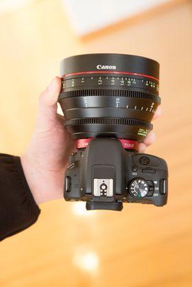 Canon EOS 100D med Canon CN-E 50 mm T1.3L.