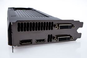 Nvidia GeForce GTX 650 Ti BOOST 2 GB kommer med to DVI-utganger, HDMI og DisplayPort.
