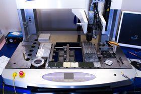 Dette er selve monteringsroboten, som utfører de mest presise operasjonene.