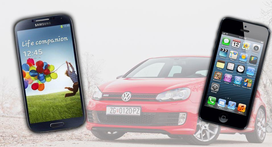 Volgswagen Golf og Porsche 911 er to designlegender fra bilverdenen. Apple og Samsung ser ut til å ønske seg den samme statusen.