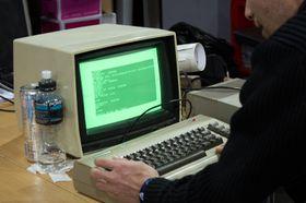 The Gatherings kanskje eldste datamaskin vakte oppmerksomhet på UiOs stand.