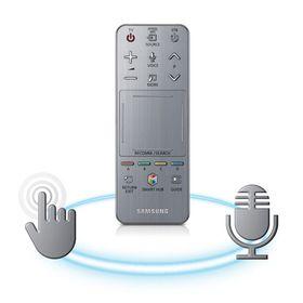 Smart Touch-fjernkontrollen har innebygd mikrofon.