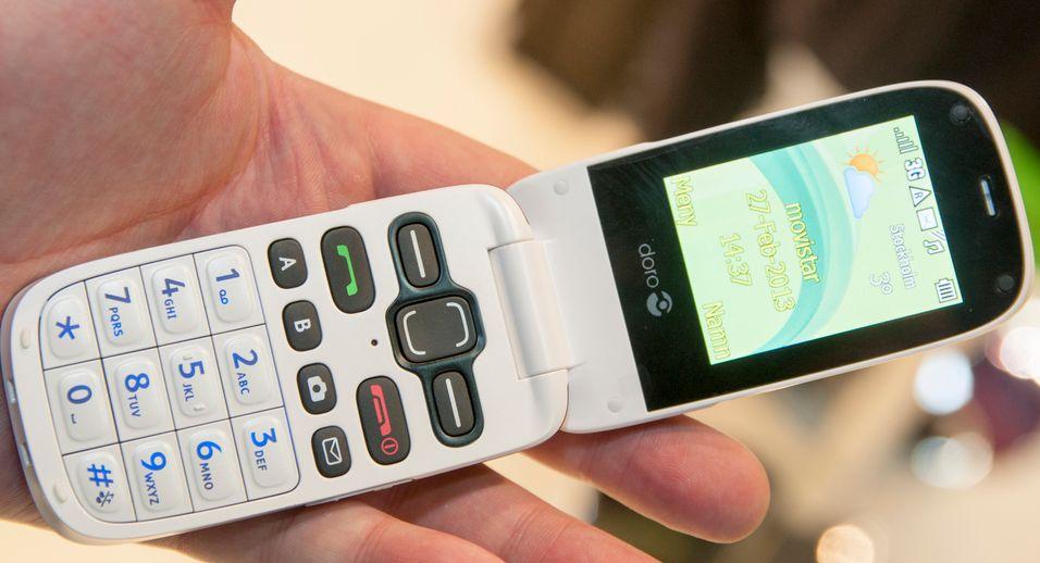 PhoneEasy 622 har store og gode taster, som gir god tilbakemelding når du trykker  på dem.