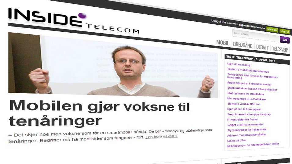 Inside Telecom med nytt design