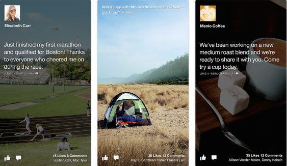 Cover feed erstatter både låseskjermen og startskjermen med Facebook-innhold.