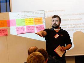 Olve Maudal ledet diskusjonene og idemyldringen etter innleggene.