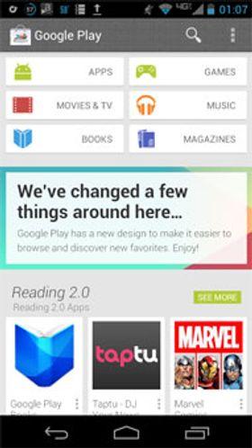 Slik kan den kommende utgaven av Google Play se ut.