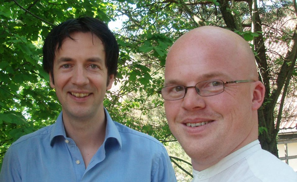 Haakon Sandven og Bjørn Erik Hagbartsen i Teleplan føler seg rundlurt av regjeringens skarve 100 millioner til bredbånd i 2010-budsjettet.
