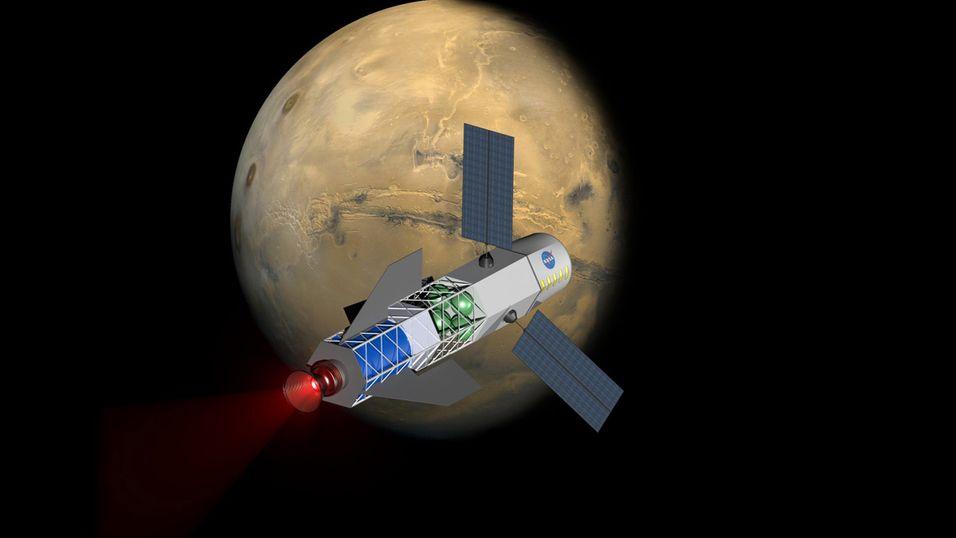 Med litt kjernefysisk fusjonskraft kan vi kanskje komme oss litt raskere til vår røde naboplanet.
