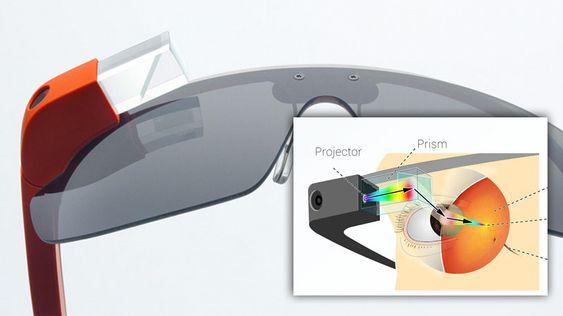 """Kunstneren Martin Missfeldt har laget denne """"infografikken"""" som forklarer hvordan Google Glass fungerer."""