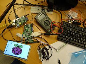 Deler av kontrollsystemet under utvikling.