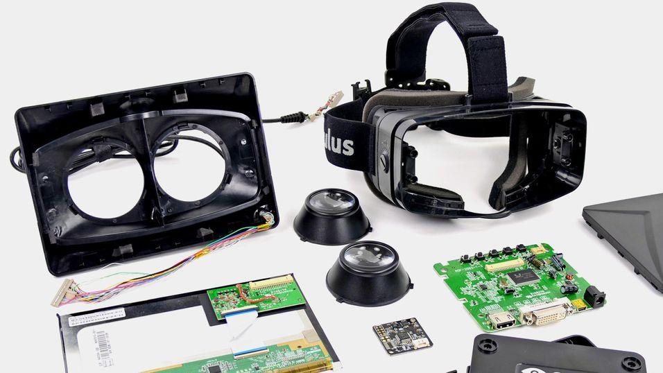 Nettstedet iFixit har fått tak i en utviklerutgave av Oculus Rift, og har skrudd den fra hverandre.
