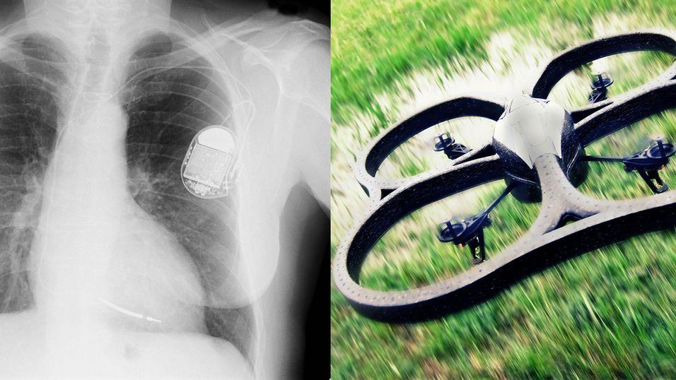 Enten det er en pacemaker eller en drone, så vil hackerne få has på deg. Muligens.