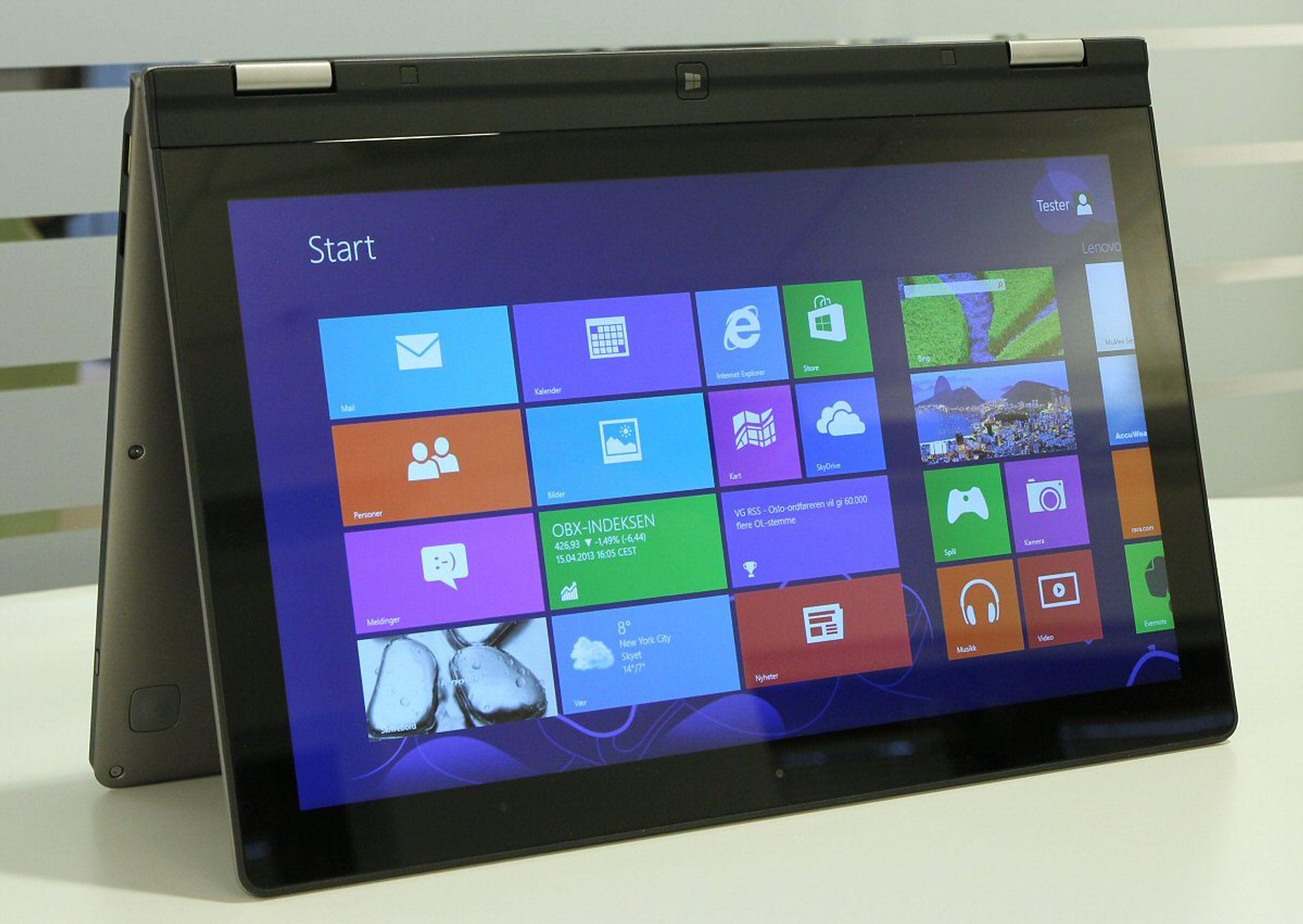 Lenovo ideapad yoga 13 i teltmodus foto vegar jansen hardware no