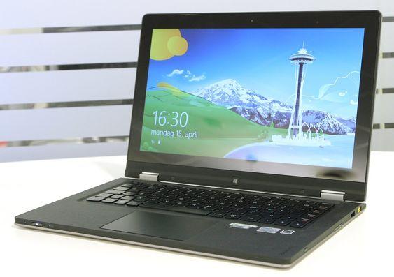 Yoga 13 som vanlig bærbar PC.