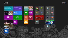 Startskjermen i Windows 8.