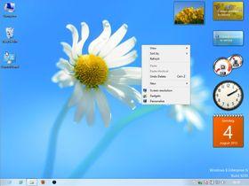 Skrivebordsmodusen er ganske tradisjonell Windows.