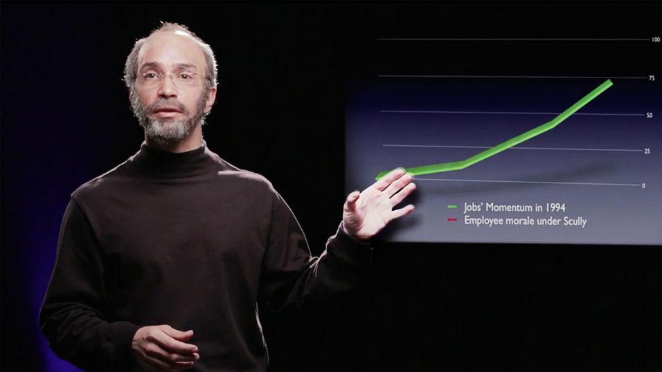 Justin Long som Steve Jobs.