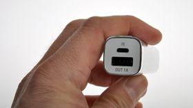 USB-uttaket for lading er på 1 ampere. Kjøper du en av de større laderne fra PNY, får du også et 2,1 ampere-uttak. .