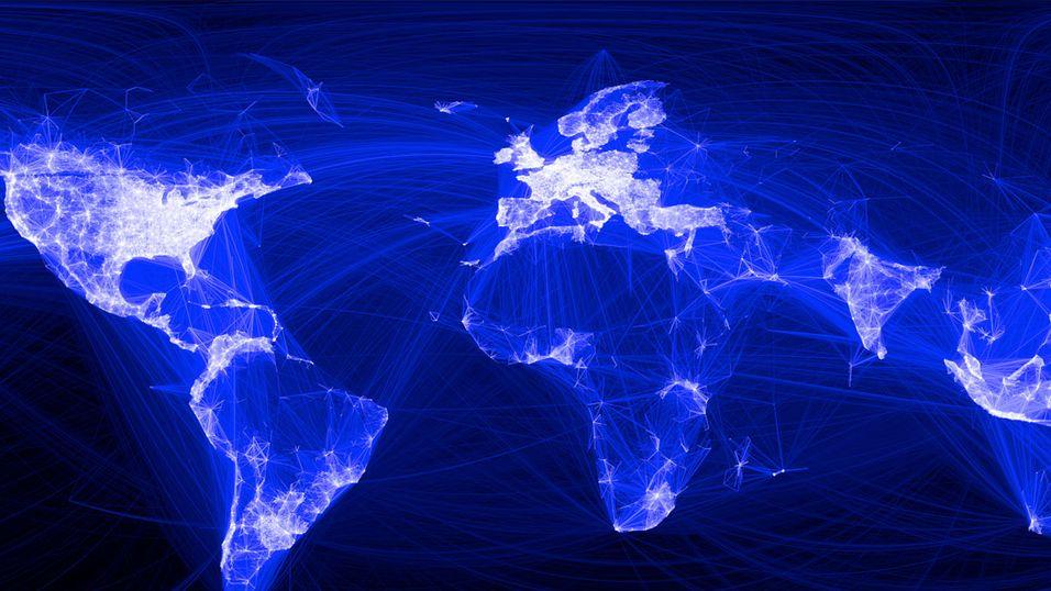 Internett knytter sammen hele verden.