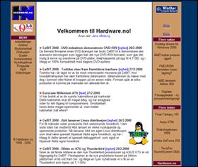 Hardware.no anno 1999/2000. Her var vi hostet hos Opera.no og Winther.net.
