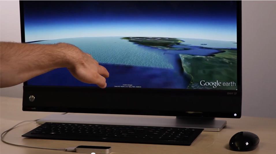 Snart kan du styre Google Earth med håndbevegelser