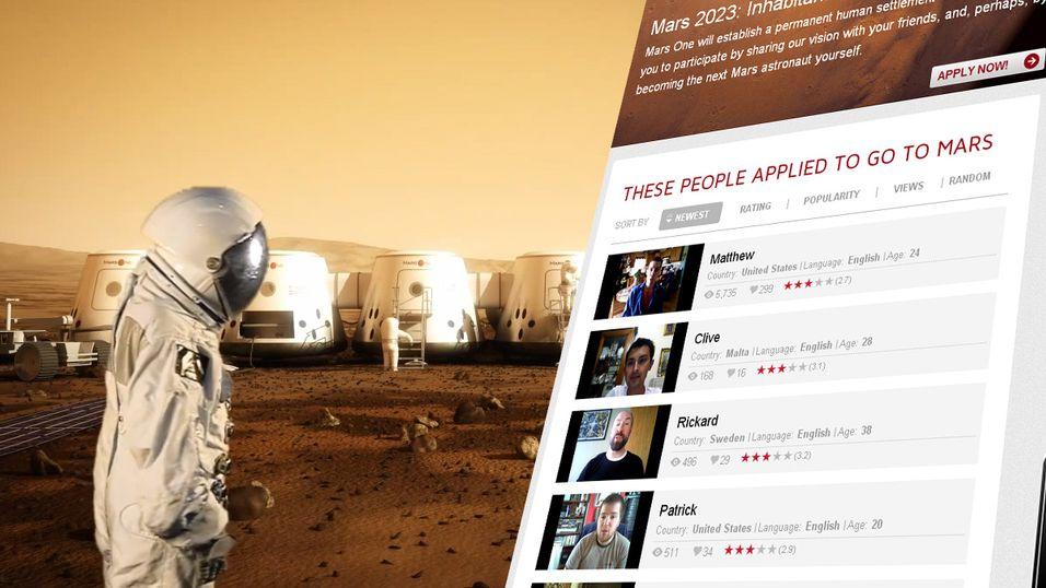 Nå er det bare å ta på deg dine fineste klær og sette i gang med en videosøknad for å flytte til Mars.