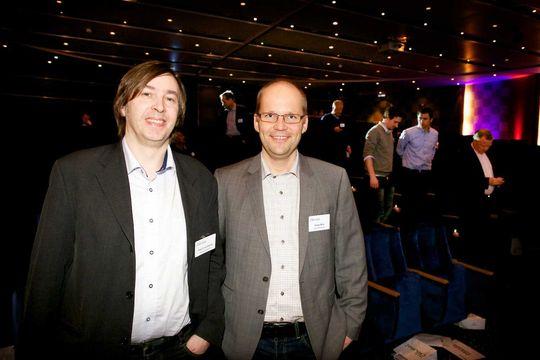 Olaf Schjelderup (til venstre) i Norsk helsenett ønsker tre separate føringsveier til viktige punkter i nettet og hilser debatt om nasjonal infrastruktur velkommen.