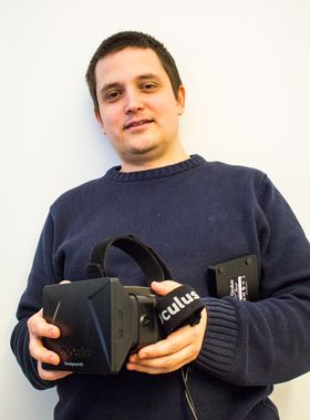 Christer-Andre Fagerslett lot oss prøve sin utviklermodell av Oculus Rift.