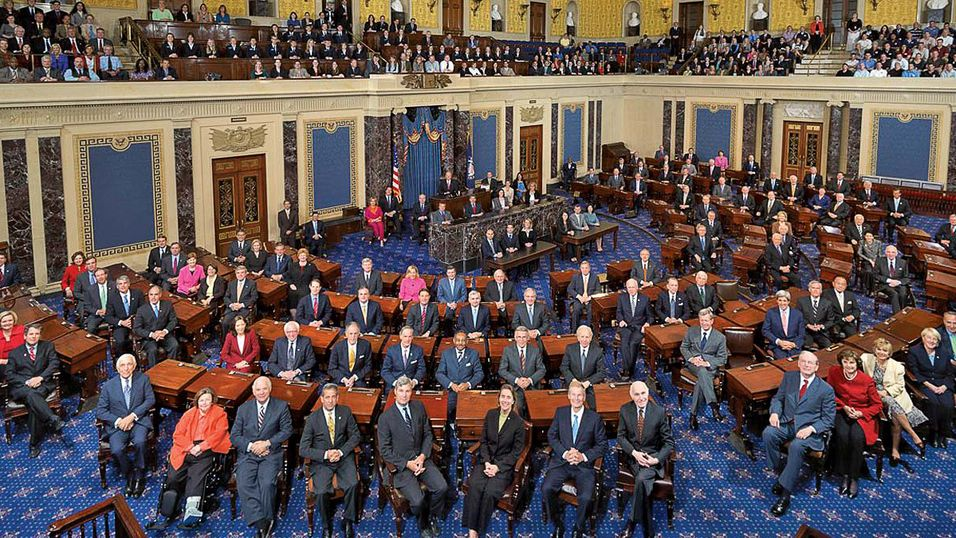 Det amerikanske senatet i all sin prakt.
