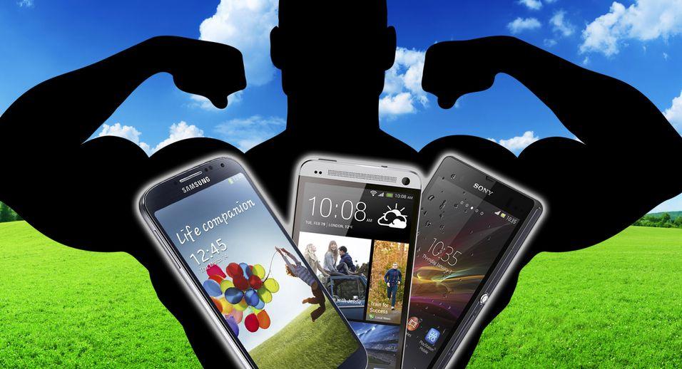 HTC One vs. Sony Xperia Z vs. Samsung Galaxy S4