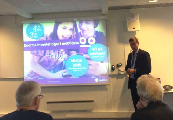 NetCom-sjef August Baumann presenterte den nye prisplanen for pressen.