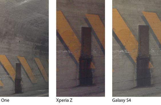 Vi tok med oss telefonene inn i en kort tunnel, med halvgod belysning. Med alle tre telefonene på auto, fikk vi det beste bildet fra Galaxy S4.