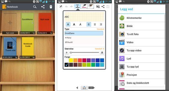 """Notatblokk-appen er utmerket, og du kan også legge til bilder, videoer og lydopptak i notatene dine. Men vil du lagre notatene """"i skyen"""" for å kunne hente dem frem på andre enheter, anbefaler vi heller apper som for eksempel Evernote."""