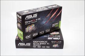 Asus GeForce GTX 650Ti BOOST DirectCU II OC: Produktesker.