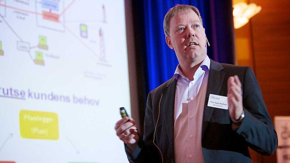 Administrerende direktør Thor-Egel Bråthen i Eltel Networks ønsker tettere dialog mellom aktørene i telebransjen for å håndtere kriser bedre.