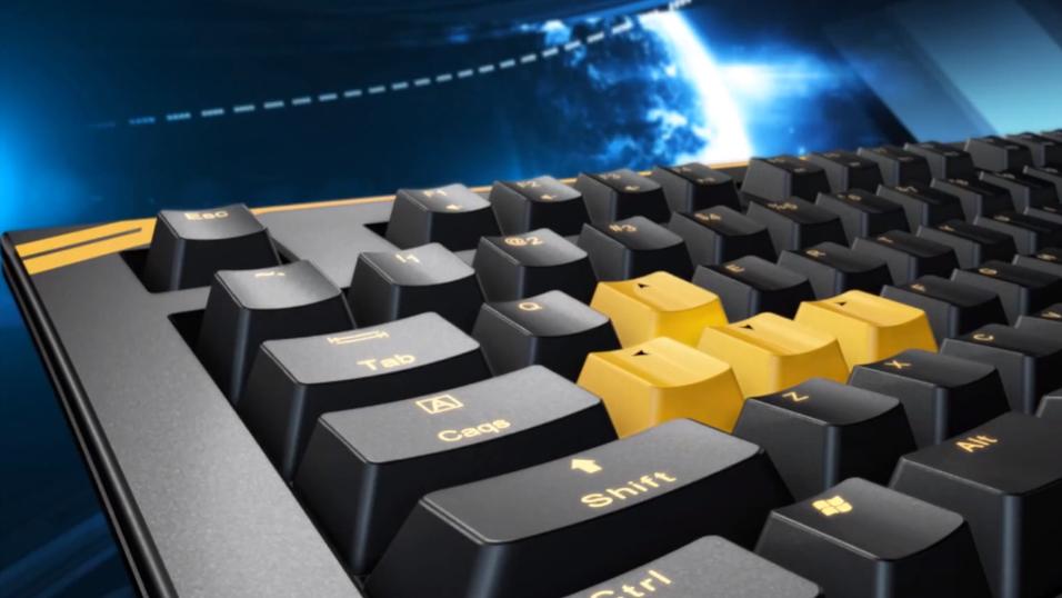 MSIs nye mekaniske spilltastatur, GK-601.